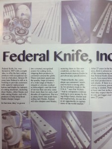 Federal Knife Profile