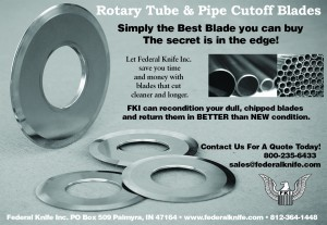 Federal Knife Inc. Rotary Tube Cutter Ad.